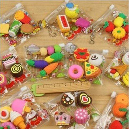 Mua 1 Pack Funny Food Rubber Pencil Eraser Stationery Children Party Creative - intl