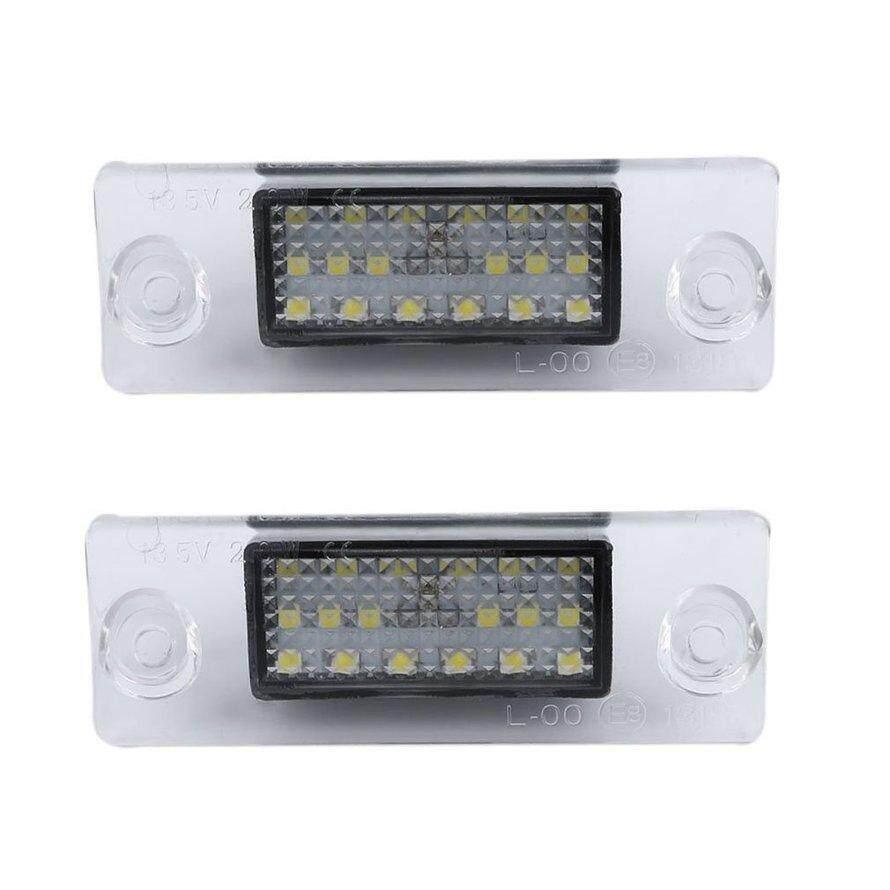 Osman 1 Pasang Mobil Nomor LED Lampu Pelat Nomor SMD3528 18LED Khusus untuk Audi