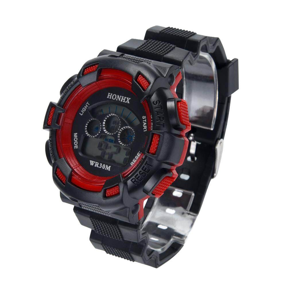 Honhx Erkek Kol Saati Watch Boy Fashion Casual Waterproof Watches Boys Digital Led Sports Watch Kids Alarm Date Watch Gift 50 Men's Watches