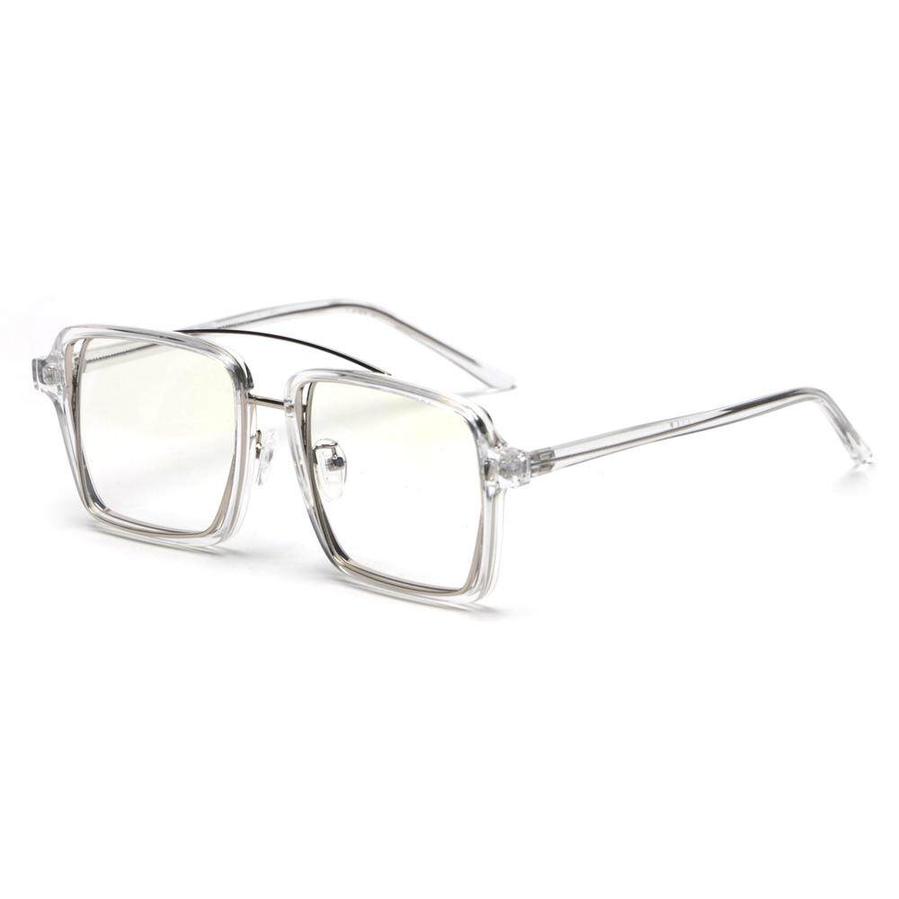 891260ccd0 Black Square Frame Glasses for Men Vintage 2019 Clear Lens Transparent  Decorative Eyeglasses Frames for Women