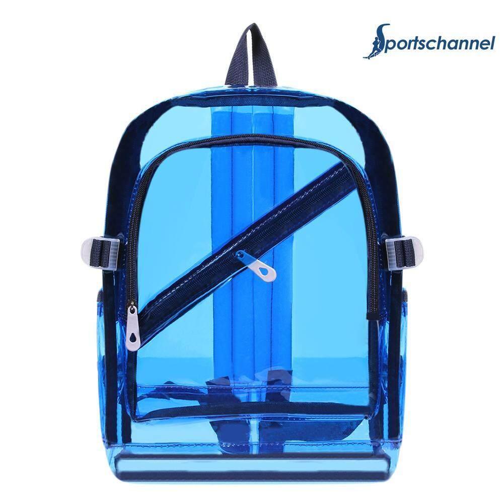 Women/men Pvc Clear Waterproof Backpacks Teen Hologram Shoulder Schoolbags By Sportschannel.