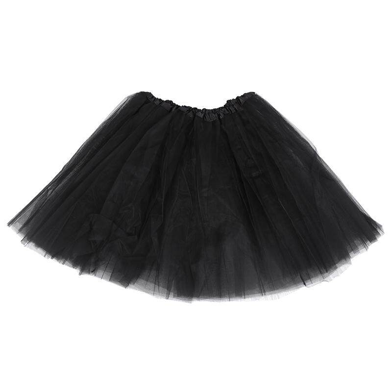 Women/adult Organza Dance Wear Tutu Ballet Pettiskirt Princess Party Skirt Black By Lapurer.