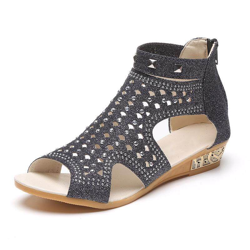 bf0e91e15794 Vtota Sandals Women Casual Rome Summer Shoes Fashion Rivet Gladiator Sandals