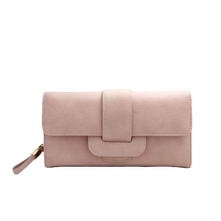 WLT-107 Nicole Bonnie Big Space Woman Purse [PINK /Ready Stock]