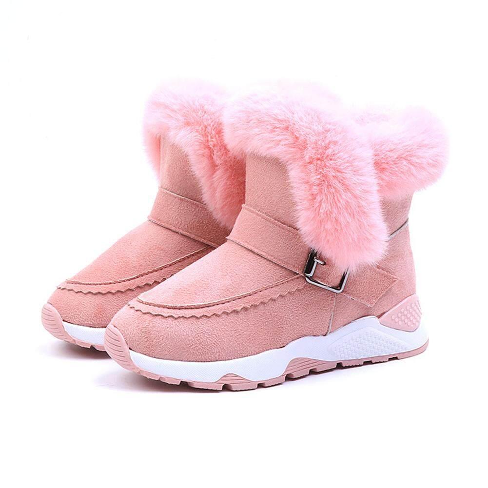 Giá bán Saideng Ấm Chống Trượt Bốt Cho Bé Bốt Lót Bông Giày Ống Thấp Giày Trẻ Em Bốt Đi Tuyết Cho Nam Nữ Đặc Điểm Kỹ Thuật: Dài 26 Thước Và Dài 16.2 Cm