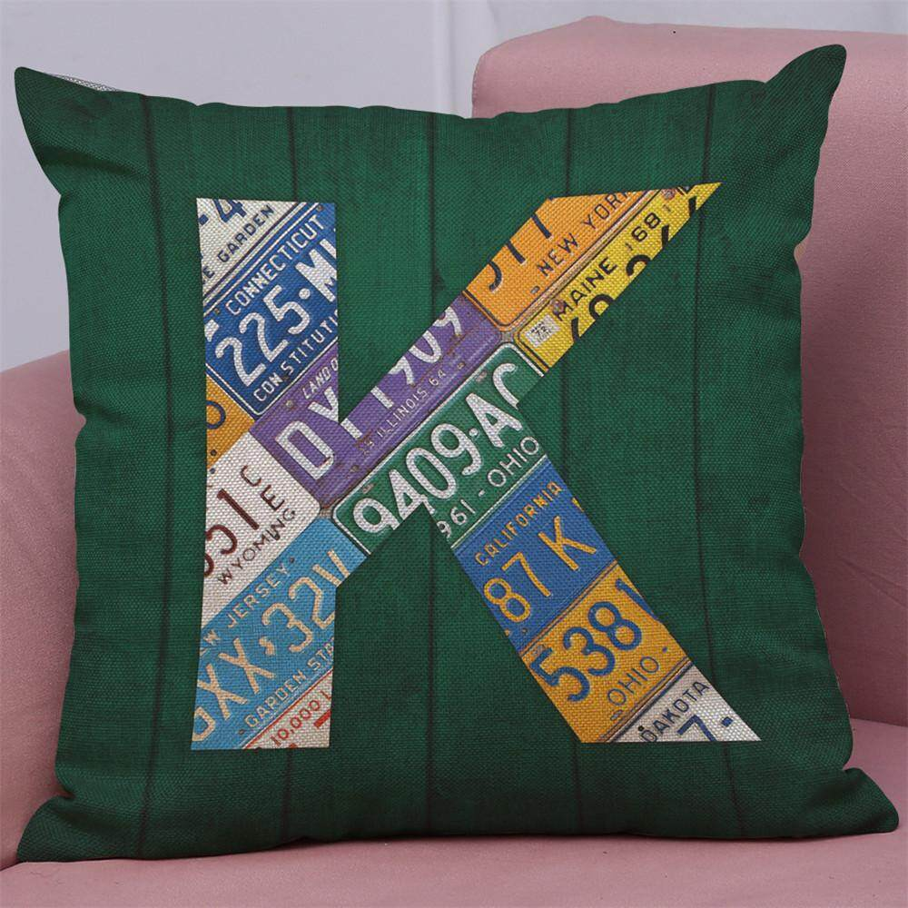 Home Decor Cushion Cover English Alphabet Throw Pillowcase Pillow Covers - intl