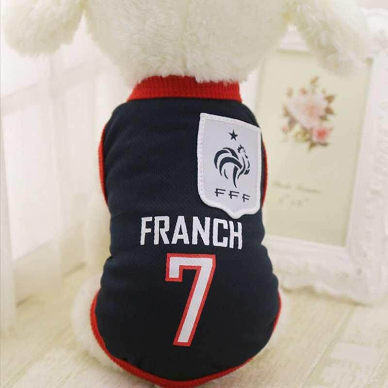 DXY Sports Dog Vest Cat Shirt Pet Clothes Summer Cotton Sweatshirt Football  Jerseys Dog Clothes For 3190667b7