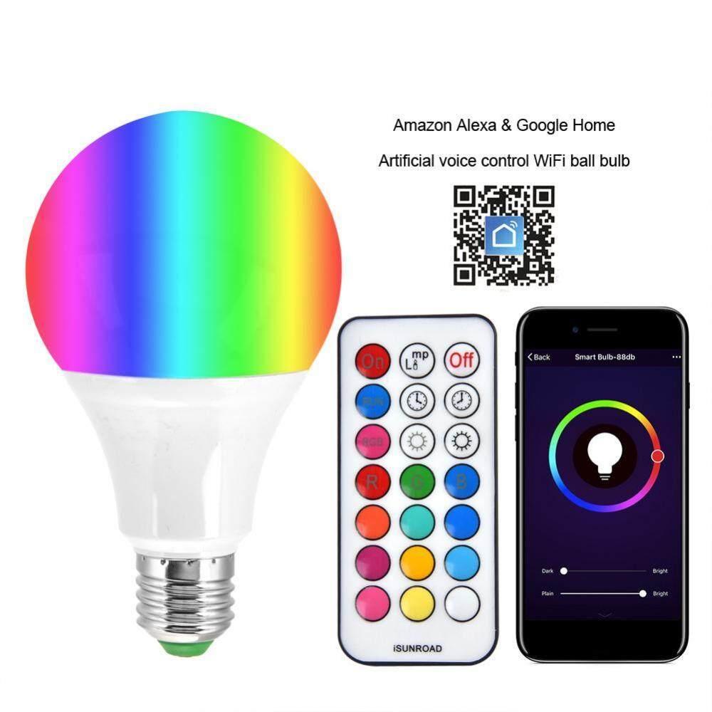 E27 10 วัตต์ 16 ไฟ Rgbw แอลอีดีหลอดไฟสีหรี่แสงเปลี่ยนหลอดไฟด้วยรีโมทคอนโทรลควบคุม Rgb + Warm White - Intl.
