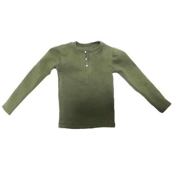 Bolehdeals 1/6 Kaus Lengan Panjang Atas untuk 12 ''Pria Aksi Tokoh Badan Hijau Tentara-Internasional