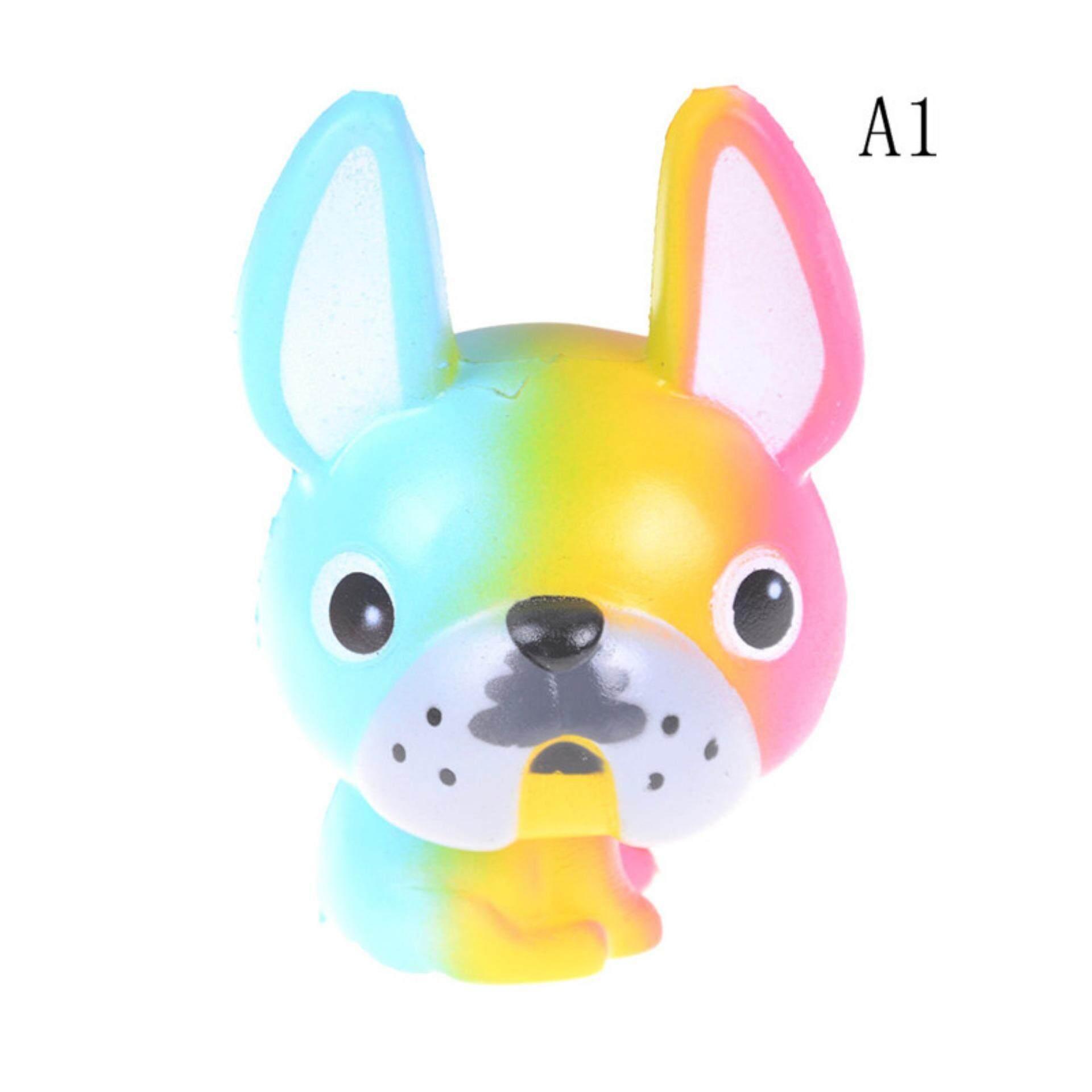 Warna-warni Sedih Anjing Lambat Rising Krim Scented Tali Gantungan HP Mainan untuk Hadiah Terbaik untuk Anak-anak A1-Intl