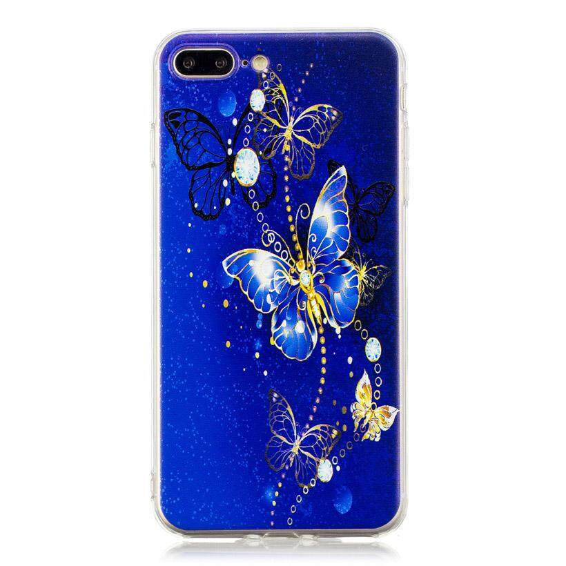 AKABEILA High Transparency Painted TPU Phone Cases for Apple iPhone 7 Plus 8 Plus iPhone7 Plus A1661 A1784 iPhone 7 Pro 5.5 inch Cover Lovely Patterns Protective Soft Phone Back Plastic Cases