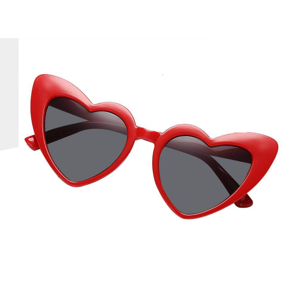 9a80b141f92c KACOO Heart Shaped Sunglasses,Aolvo Retro Cute Lightweight Plastic Frame  Eyewear HD Mirror UV400 -