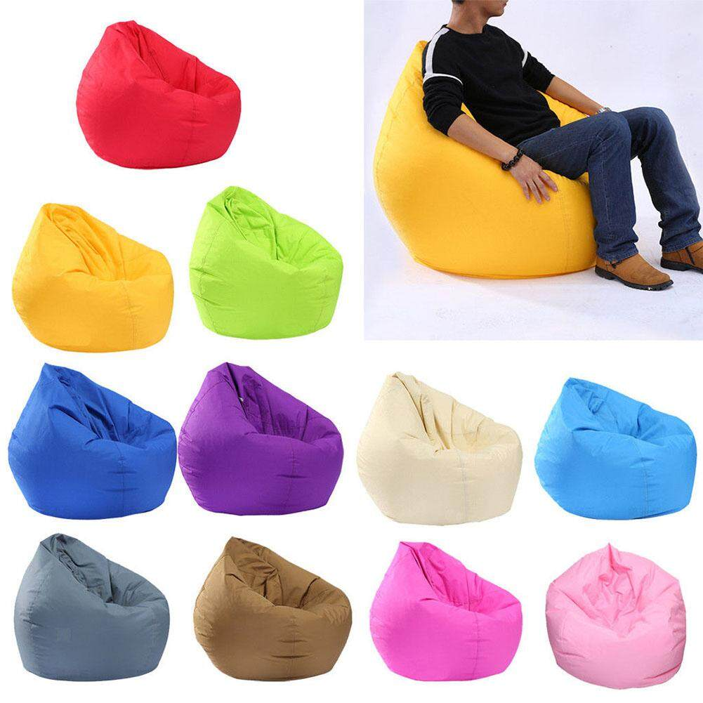 HOSSEN Waterproof Stuffed Animal Storage/Toy Bean Bag Solid Color Oxford Chair Cover Large Beanbag(filling is not included)