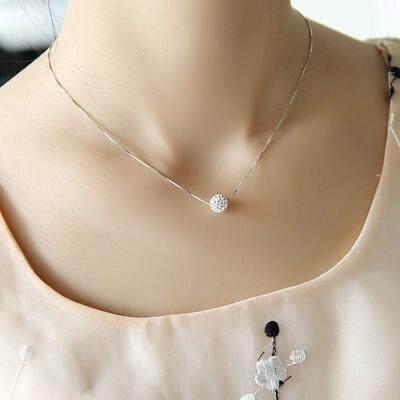 Kalung Perak Murni Berbentuk Tetes Air Sederhana, Kalung Model Pendek Perhiasan Tulang Selangka Fesyen Jepang