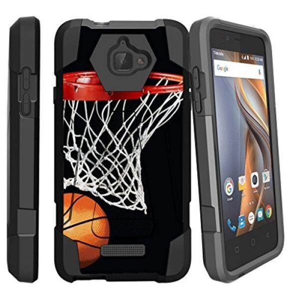 Smartphone Cases Cases MINITURTLE Case Compatible w/ Coolpad 3622A Case 3622A Hard Case [SHOCK FUSION] Rugged Hybrid Armor Shockproof Silicone Cover Stand Case w/ Designs Basketball Swish - intl