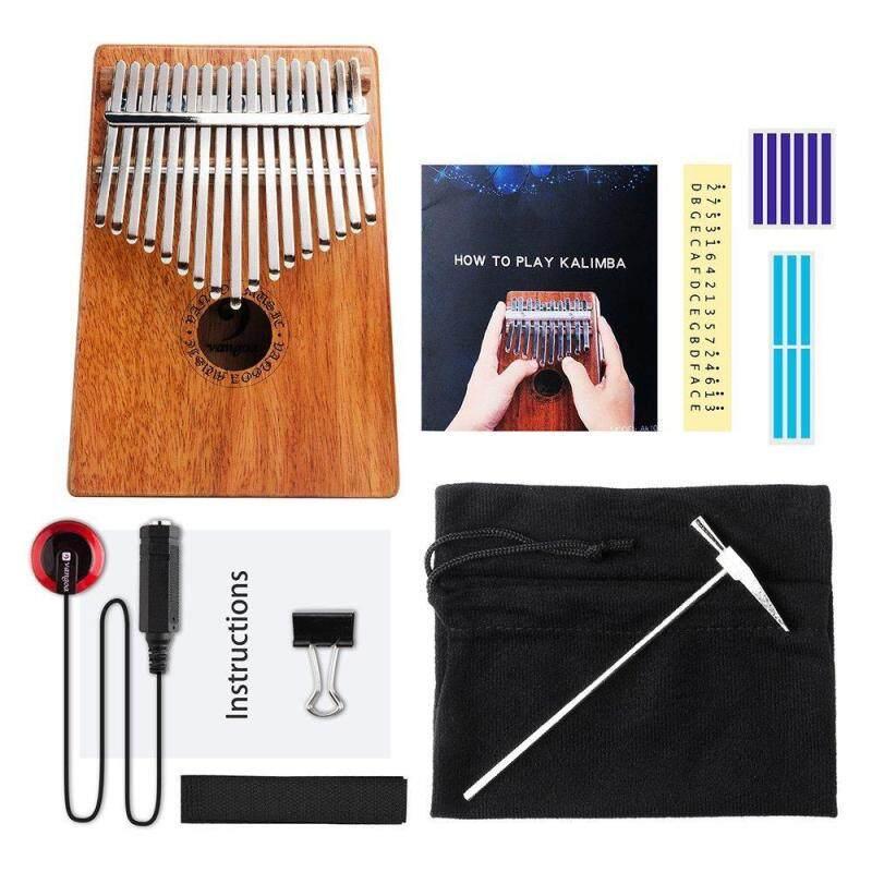 17 Keys African Fingers Kalimba Thumb Piano Percussion Keyboard Mahogany Wood Malaysia