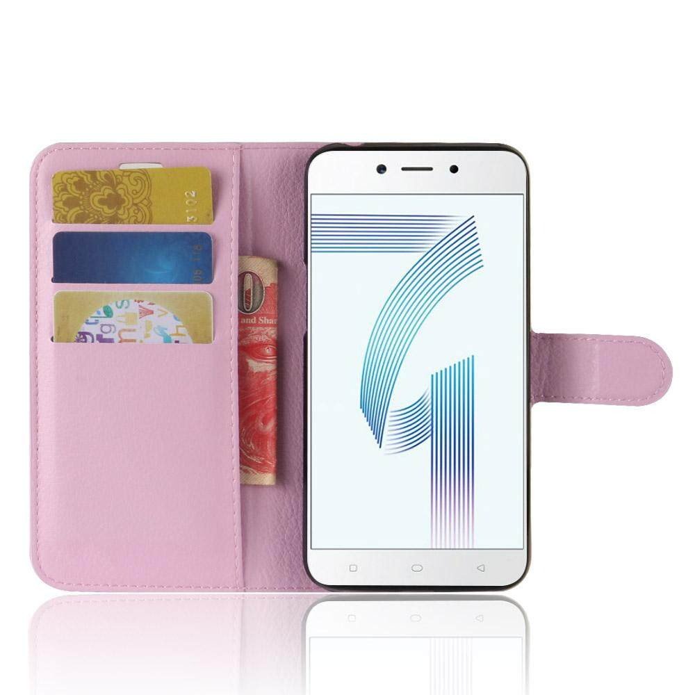 Leather Flip Cover Phone Case Wallet Card Holder For OPPO F7 Youth - 3