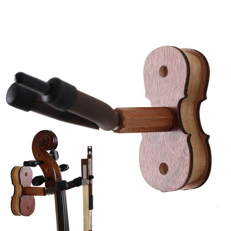 Detachable Rosewood Wall Mount Violin Hook with Bow Holder for Home and Store Show Storage Violin Malaysia