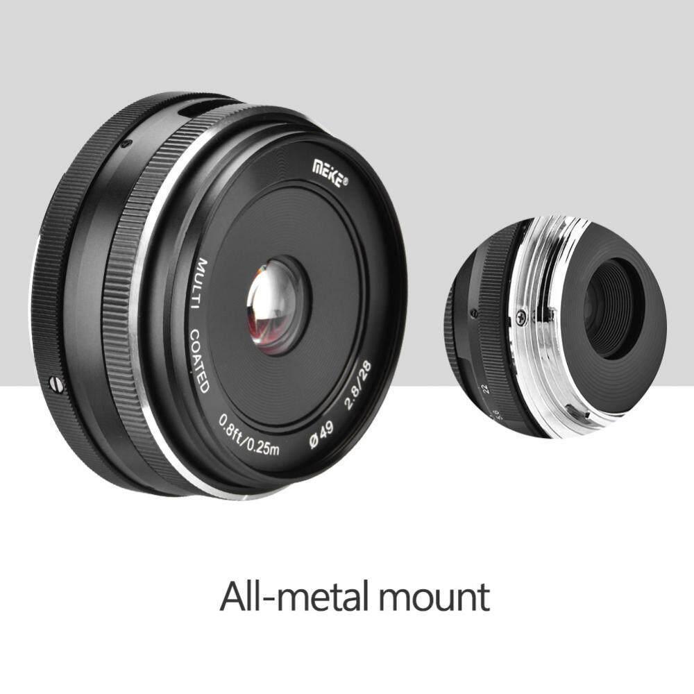 Meike 28 Mm F2.8 Aperture Besar Alat Fokus Manual Lensa untuk Kamera Mirrorless (untuk M4/3)-Intl