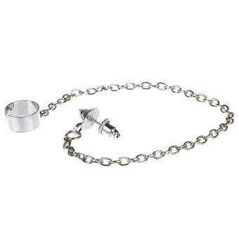 06400883cb099 การส่งเสริม Fashion Lady Spike Stud Chain Linked Ear Cuff Earrings ...