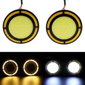 LITAO 2pcs LED 12V COB Strip Lamp Fog Car Daytimes Running Lights 12W Waterproof DRL - intl