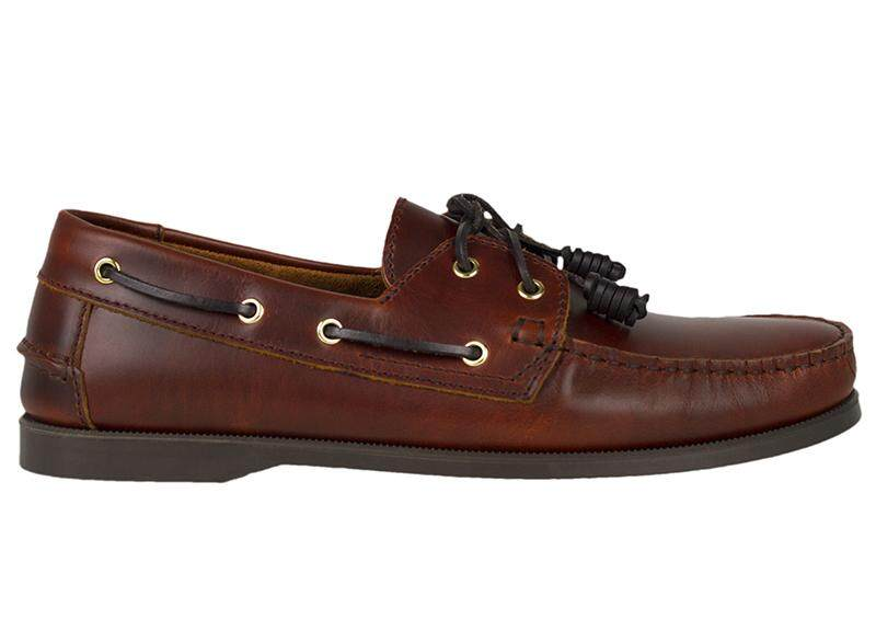 Tomaz C328-1 Leather Boat Shoes (Wine)