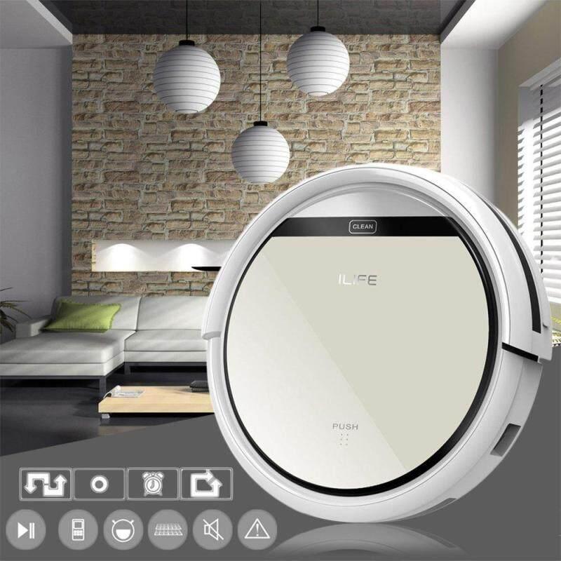 ilife V5 Intelligent Robotic Vacuum Cleaner LCD Touch Screen Self-charge Ultimate Filter Sensor RC Robot Aspirador(Light Gold) - intl Singapore