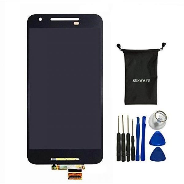 Sunways LCD Layar Sentuh Kaca Digitizer Lensa Layar Pengganti untuk LG Google Nexus 5X H791 H790 dengan Perangkat Membuka Alat-Intl