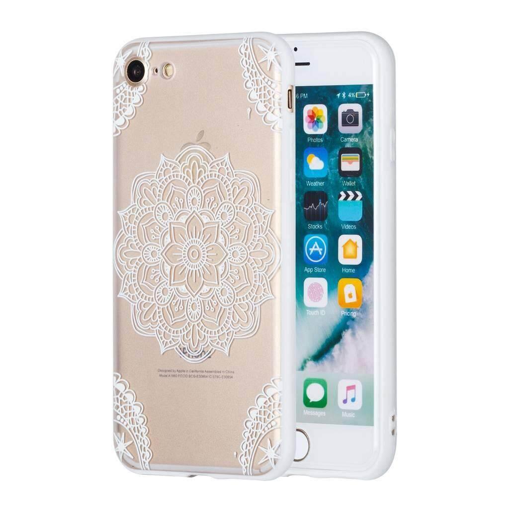 iPhone 8 Case, RUILEAN Lightweight Shockproof TPU Bumper Anti-Scratch PC Transparent Back Case