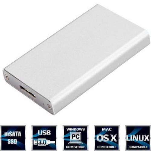 Hình ảnh Portable mSATA SSD to USB 3.0 SSD Hard Disk Box External Enclosure for PC Laptop