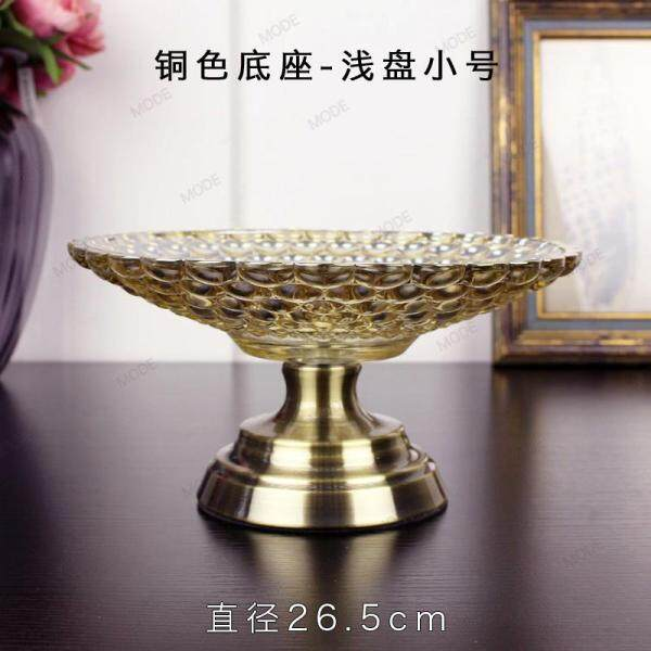 European Style HYUNDAI Top Grade Luxury Crystal Glass Fruit Plate Set Large Size Household Living Room Teapoy Table Creative Decorations And Ornaments
