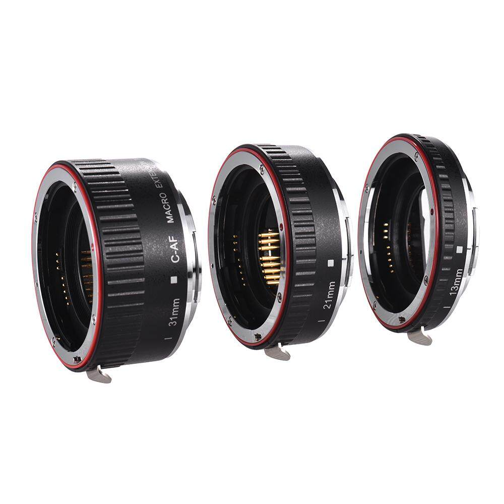 Macro Extension Tube Set Copper Auto Focus AF Macro Lens Extension Tube Ring with Covers for Canon 60D 70D 80D 5DII 5DIII 5DIV 5DS 5DSR 700D 800D 750D 550D 7DII 6D 6DII EF EF-S Lens DSLR Camera
