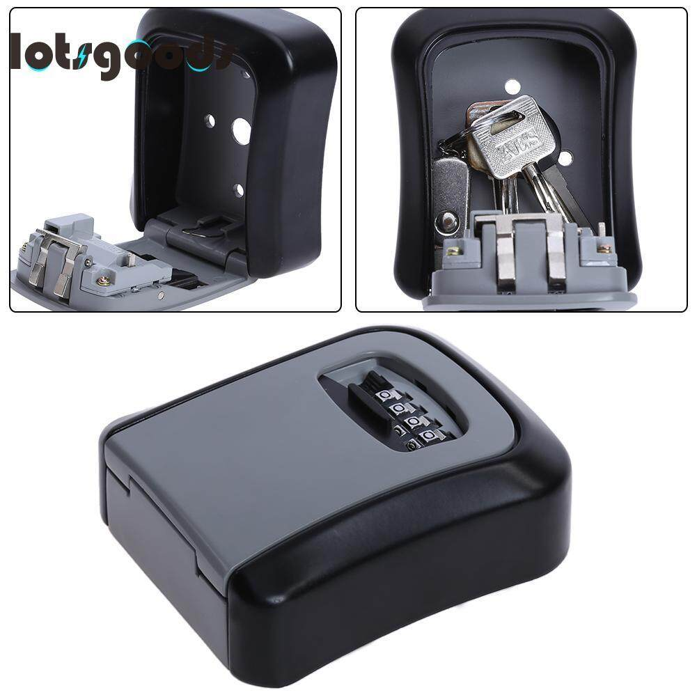 4 Digit Combination Key Safe Security Storage Box Lock Wall Mount Organizer