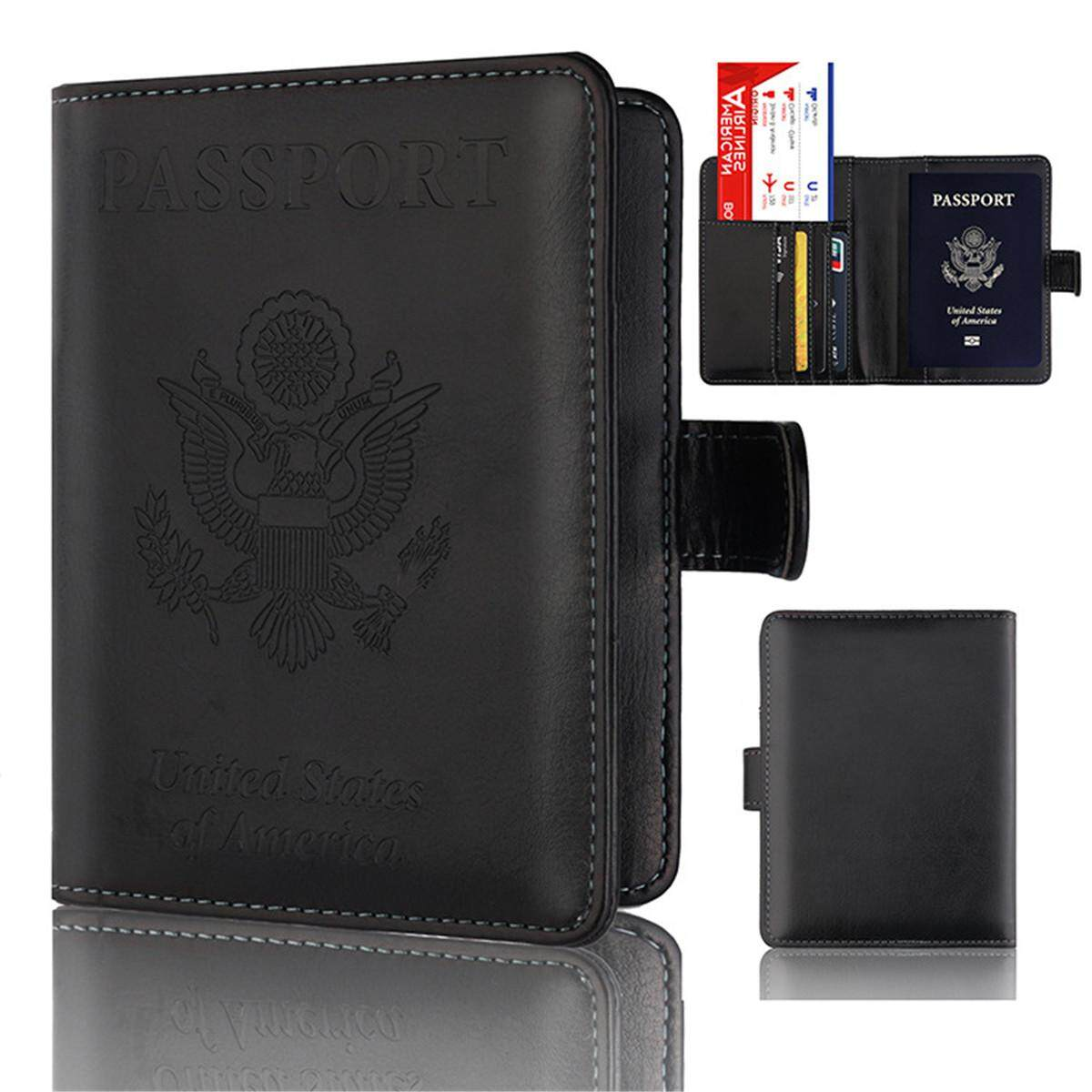 Voucher Khuyến Mại Passport Holder Wallet Cover Case RFID Blocking Travel Wallet Rose Gold #black