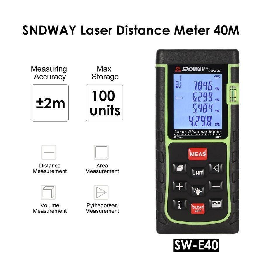 Buy Sell Cheapest Osman Laser Distance Best Quality Product Deals Meter 100 100m Pengukur Meteran Ukur Jarak Sndway 40 M Genggam Pencari Mengukur Diastimeter Internasional