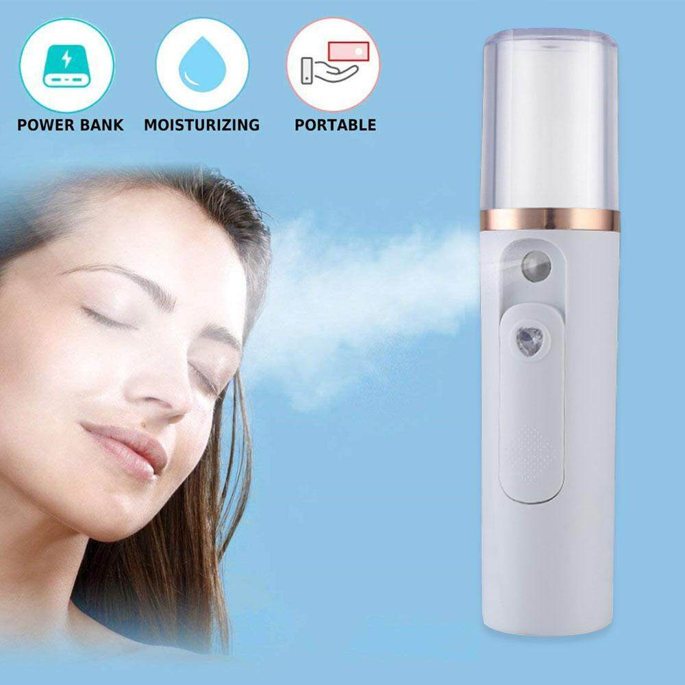 Kobwa Nano Face Steamer Portable Sprayer Moisture Sprayer Mini Cool Mist Facial Mister Facial Mist Sprayer USB Charge