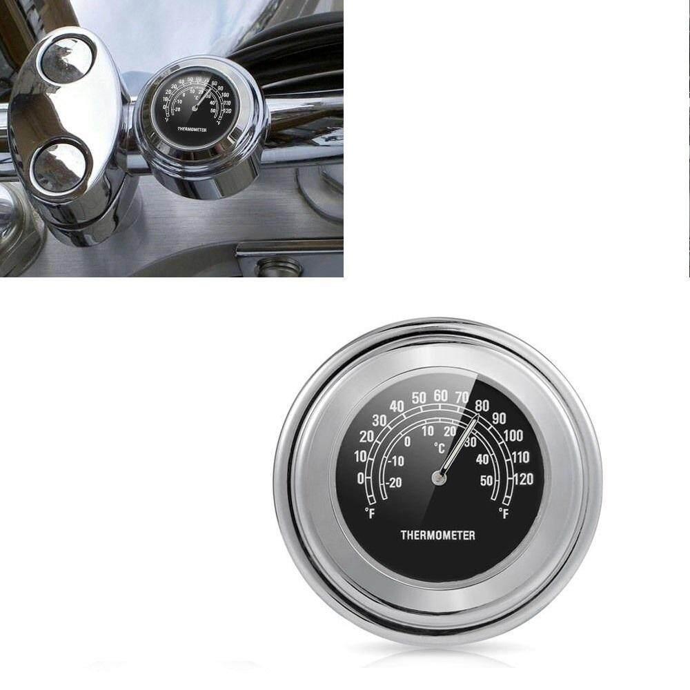 SA YANYI 22-25mm Motorcycle Handlebar Clock Thermometer Waterproof Dial Handlebar Mount for Yamaha Kawasaki etc