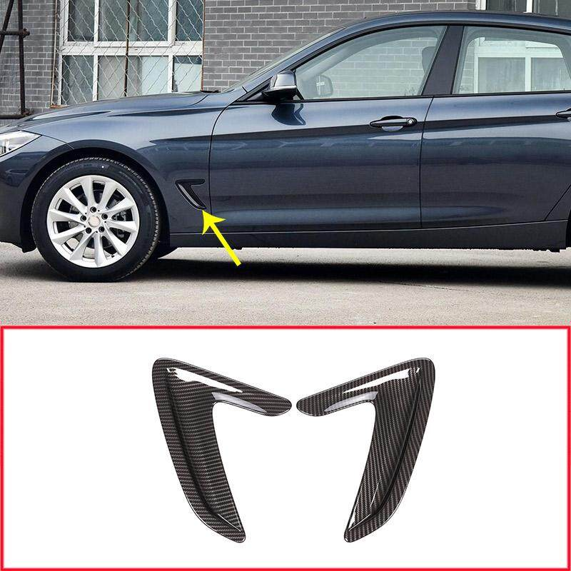 2pcs/set Car Front Door Side Wing Air Flow Fender Intake Vent Cover Sticker For