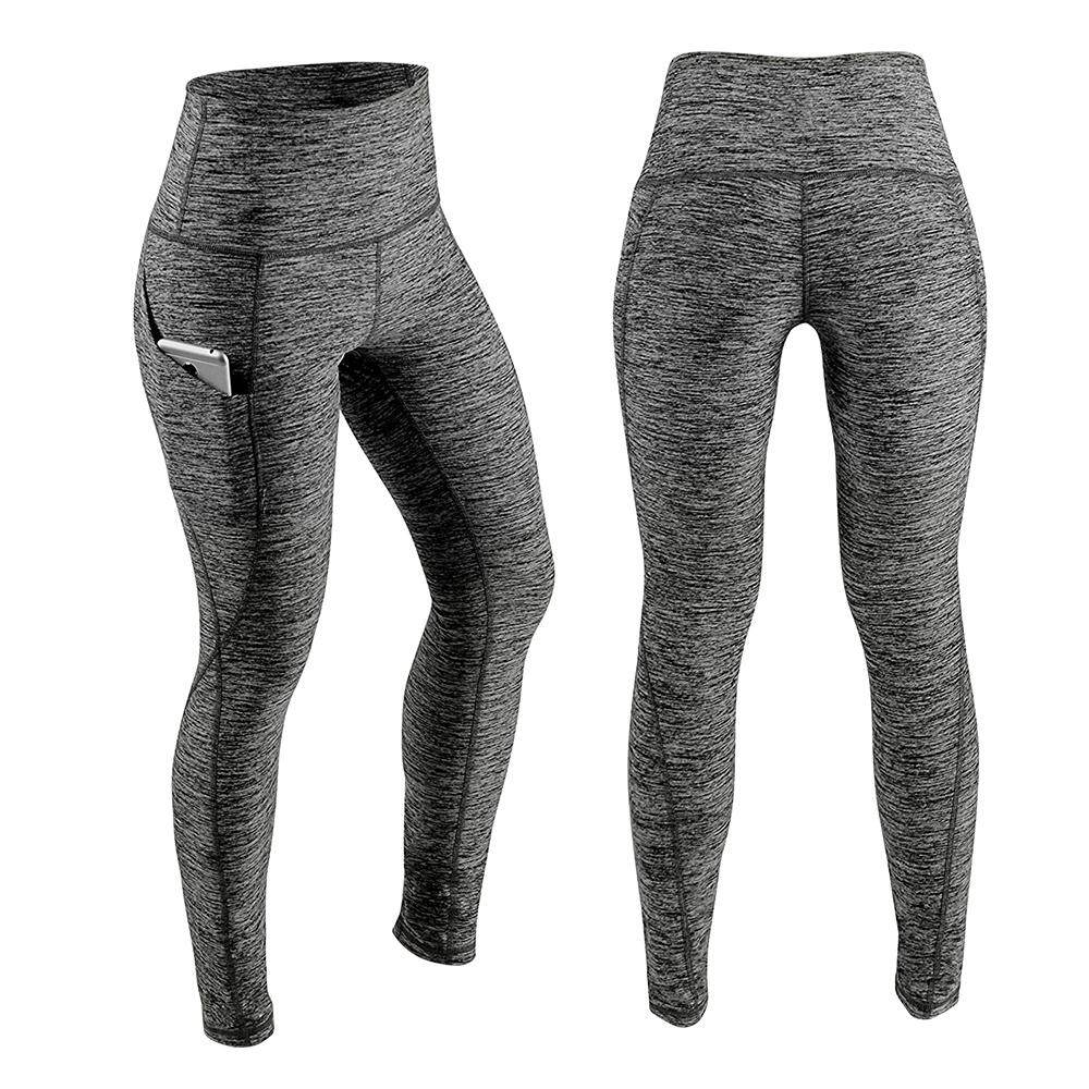 dbd2ffa0dfc90a Women's High Waist Yoga Pants Tummy Control Workout Running 4 Way Stretch  Yoga Leggings Tights with