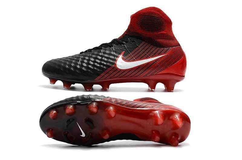 Authentic Classic Men's Magista Obra II FG Football Shoes ACC Fire Magista Obra II FG High Ankle Soccer Cleats Black/Red - intl