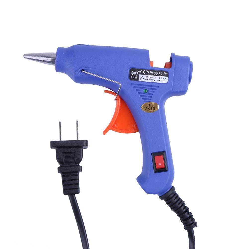 20W Hot Melt Air Glue Gun High Temp Heater Mini Gun w/ 10pcs Glue Sticks (Purple)