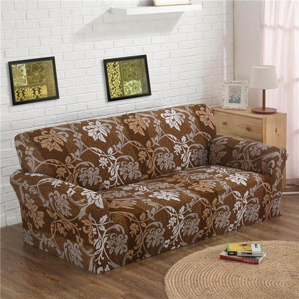 1/2/3/4 Seaters Floral Modern Stretch Sofa Slipcover Protector Soft Couch Cover