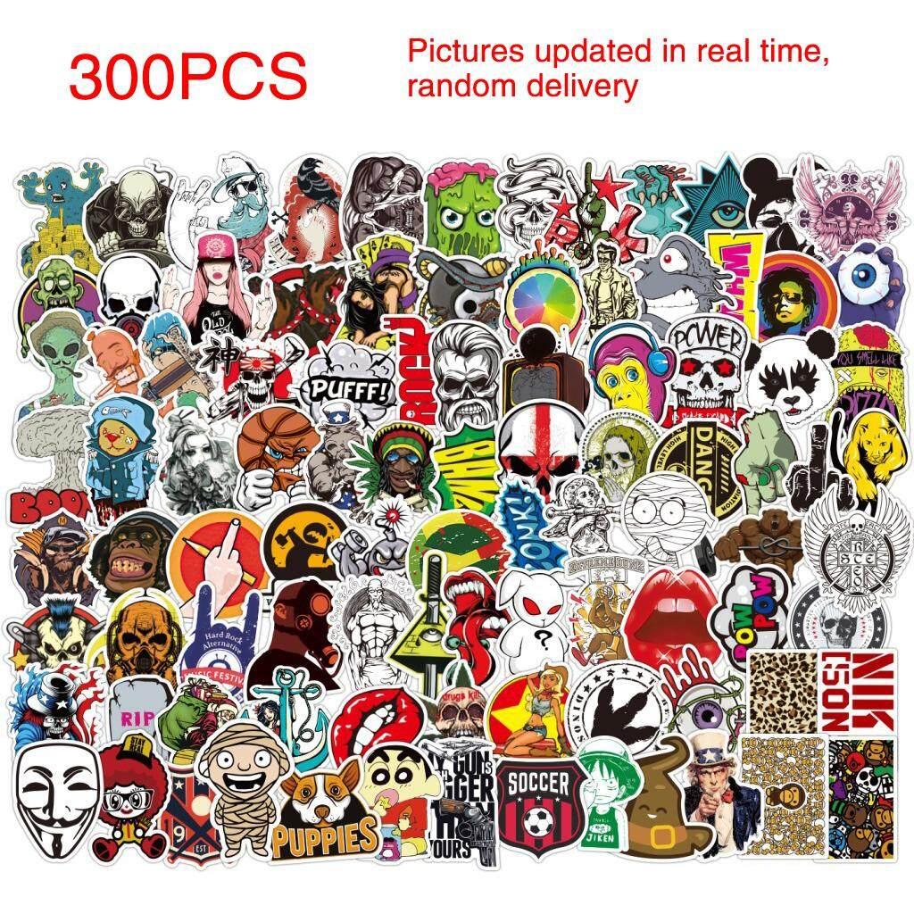 300pcs lot sticker bomb decal vinyl roll car laptop luggage skate skateboard