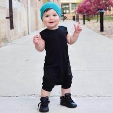 Baru Balita Anak-Anak Bayi Anak Laki-laki Baju Monyet Tanpa Lengan untuk Musim