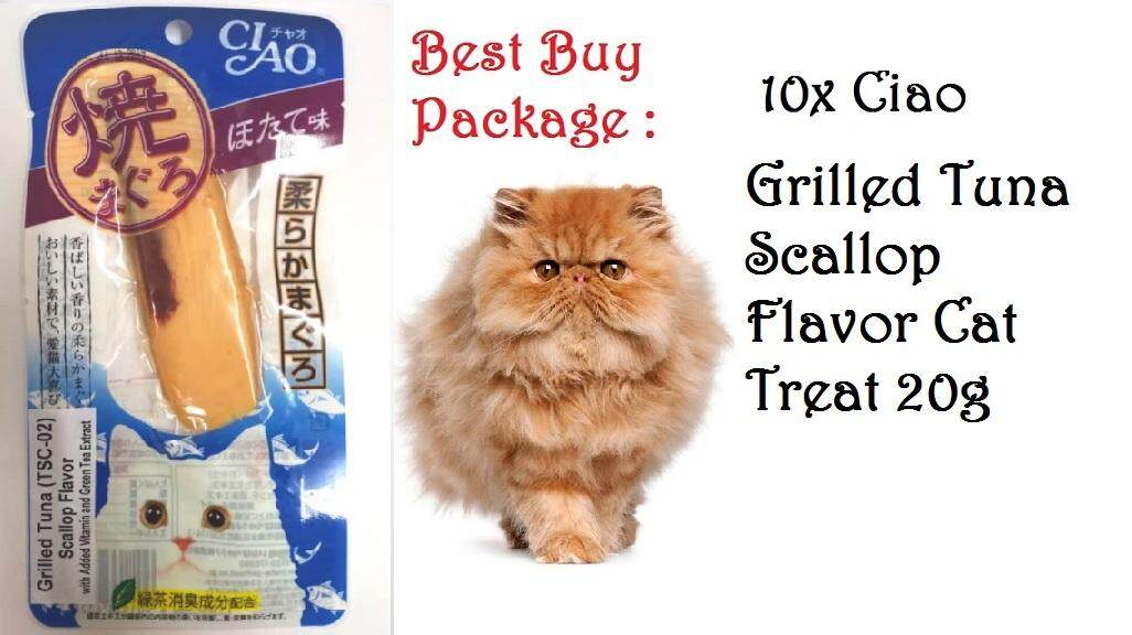 {Buy 10x}Ciao Grilled Tuna Scallop Flavour Fillet 20g