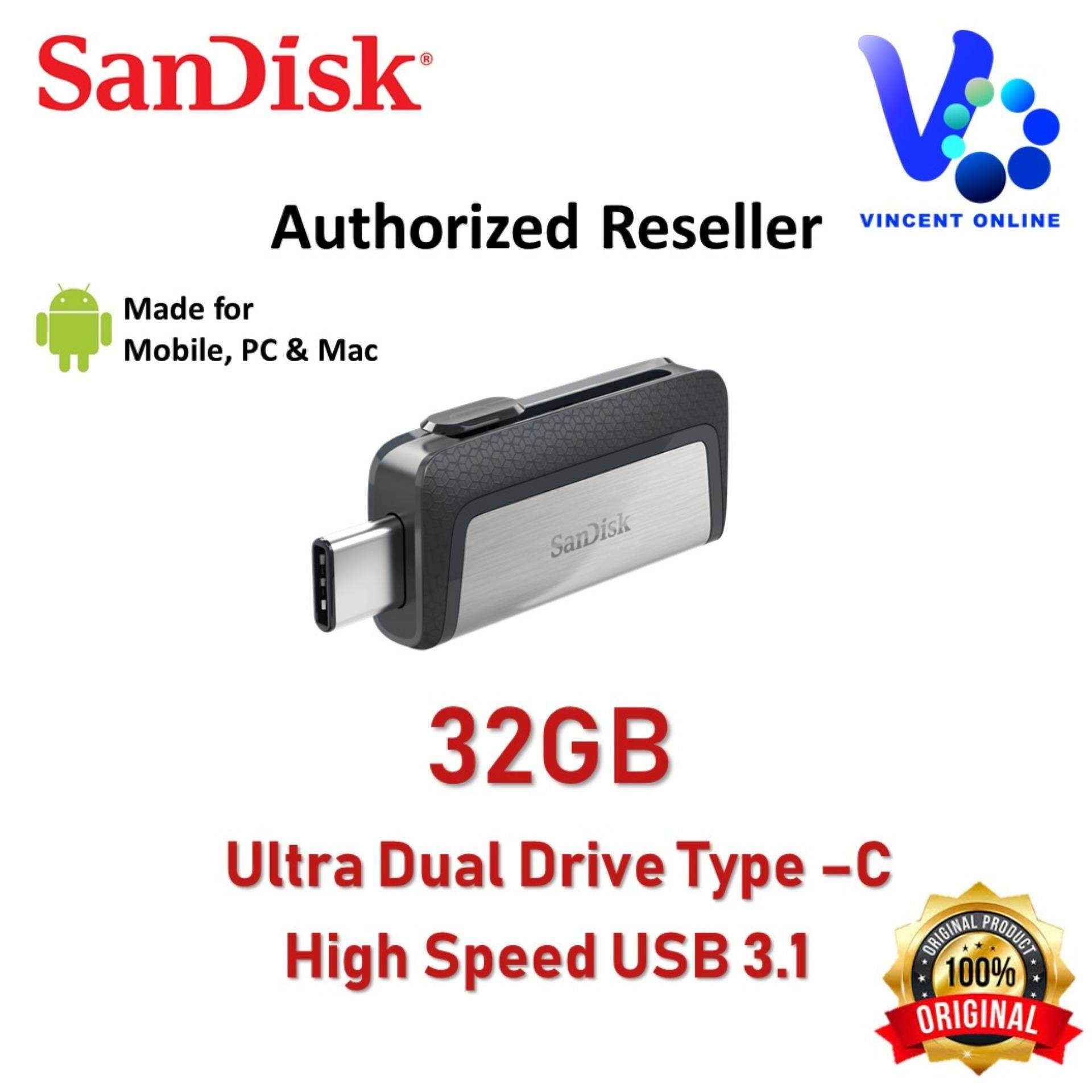 Features Sandisk Ultra Dual Drive 128gb 130mb S Usb Type C For 30 Sddd2 32gb 150mb Android Smartphone