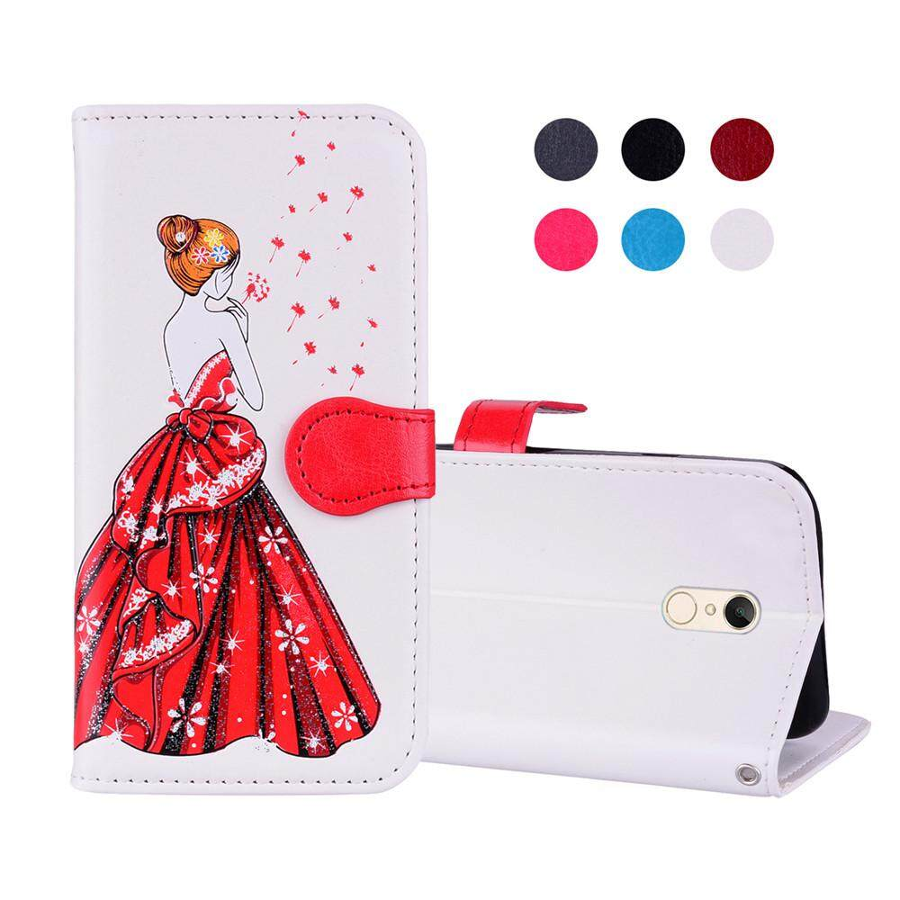 Casing Ponsel untuk Xiaomi Redmi 5 PU Case Kulit Dandelion Dewi Pola Flip Stand Pelindung Dompet Sl