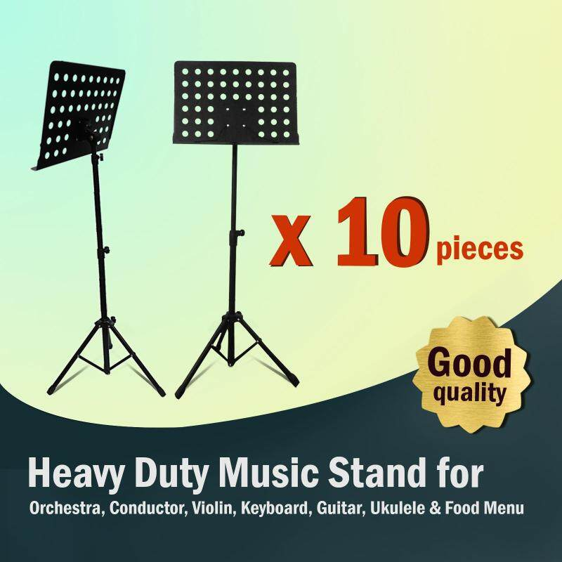 [10 in 1 Value Pack] Heavy Duty Music Stand for Orchestra, Conductor, Violin, Keyboard, Guitar, Ukulele & Food Menu (High Quality) Malaysia