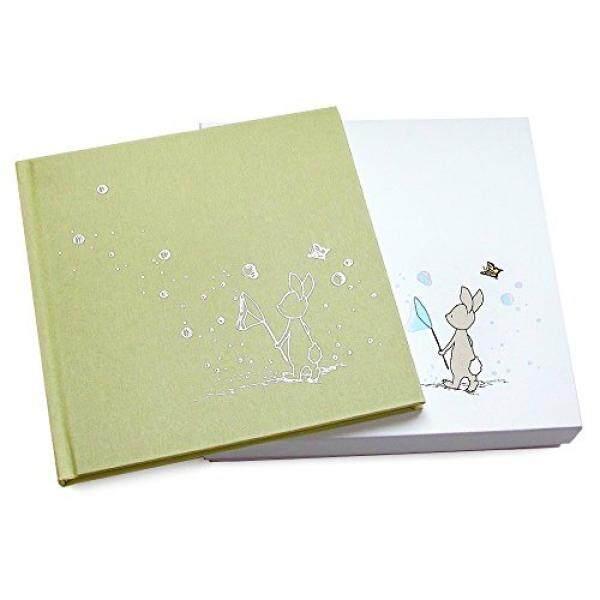 เด็กสมุดบันทึกความทรงจำ - สมุดบันทึกของเด็กสำหรับ First ปี (1-4) - Girl หรือ Boy - สำหรับอาบน้ำทารกหรือผู้ปกครองใหม่ - รวมกล่องเก็บของและกระเป๋า - ผลิตในสหรัฐโดย Echo Art Bindery - Intl.