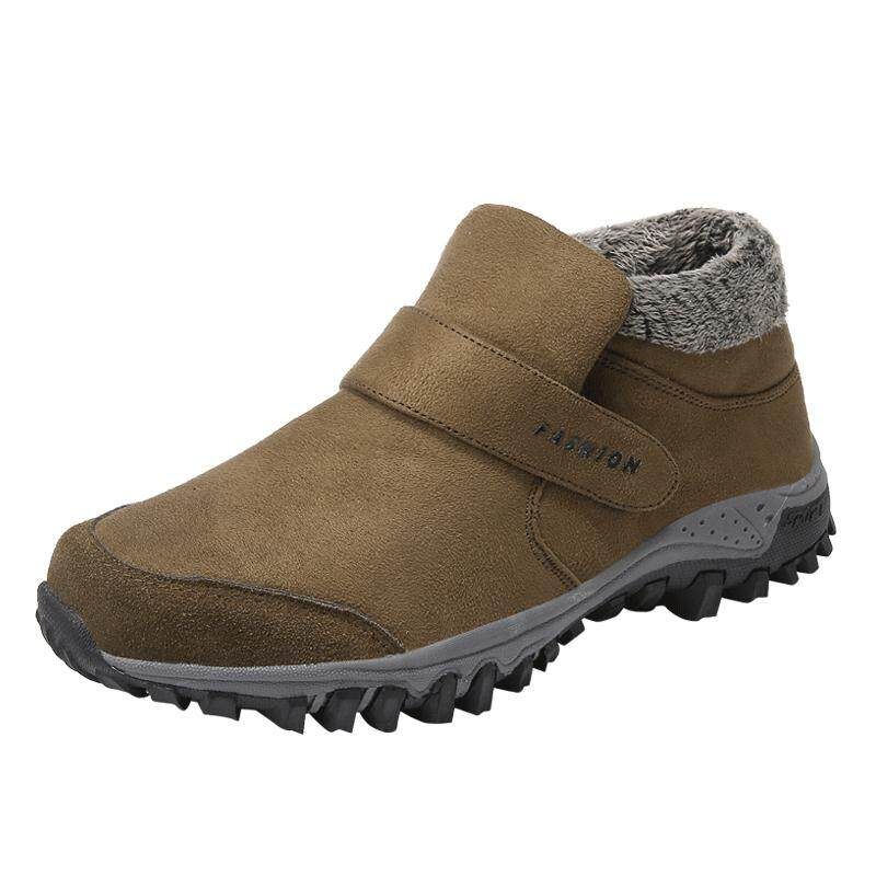 tahan air wanita musim dingin pasangan unisex sepatu bot salju hangat bulu di dalam anti slip